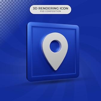 3d render projektu ikony lokalizacji