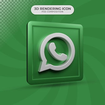 3d render projektu ikony whatsapp