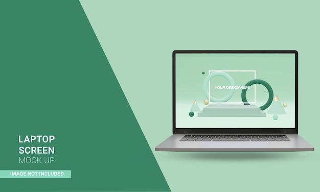 3d render realistyczny przód makiety laptopa