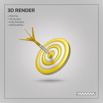 3d render tarcza do celu ze strzałką w dziesiątkę