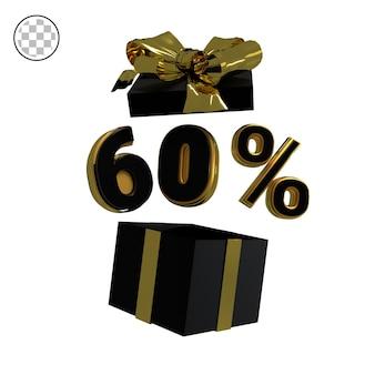3d render złoto sześćdziesiąt procent