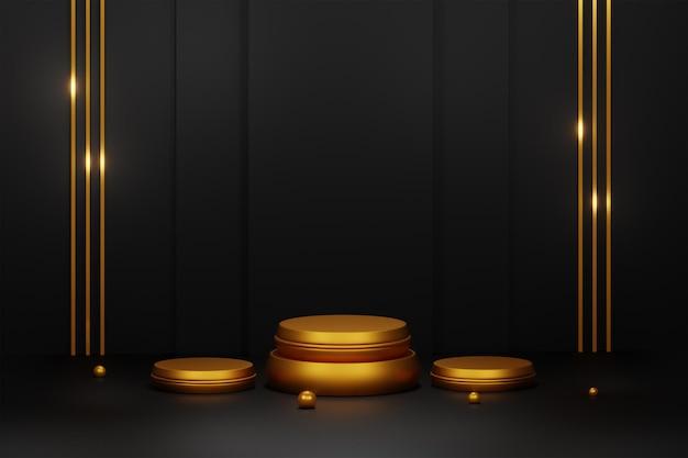 3d rendering nowoczesny minimalistyczny wyświetlacz podium lub scena prezentacji