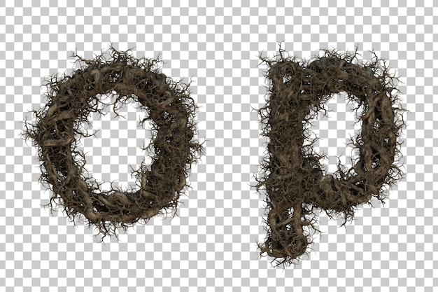 3d renderingu gałąź abecadło oi abecadło p