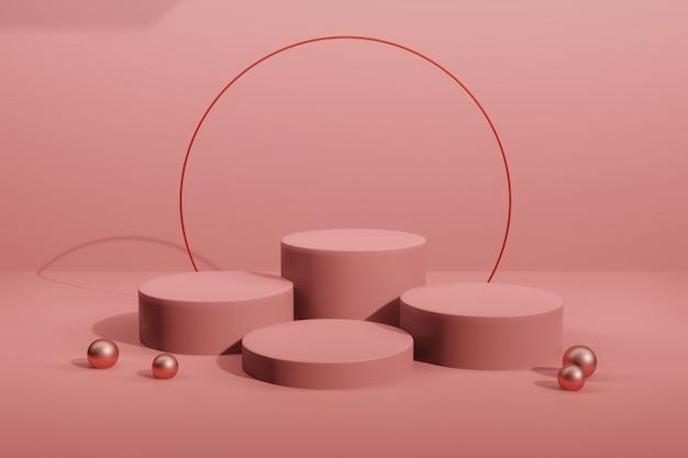 3d renderingu sceny pokazu mockup dla twórcy sceny