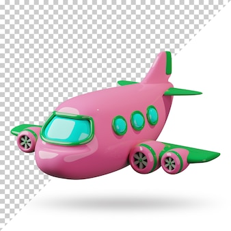 3d renderowana kreskówka samolotu