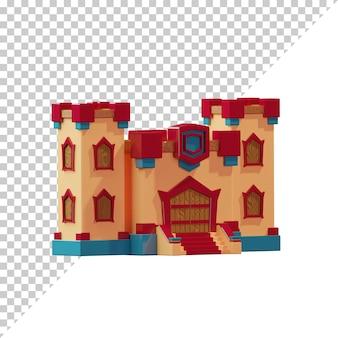 3d renderowana kreskówka zamku