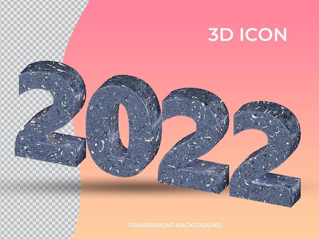 3d renderowane 2021 3d przezroczysty tekst ikona projekt widok z góry