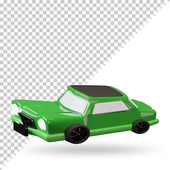 3d renderowane kreskówki samochodu