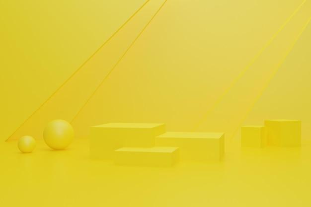 3d renderowane tło do wyświetlania produktu