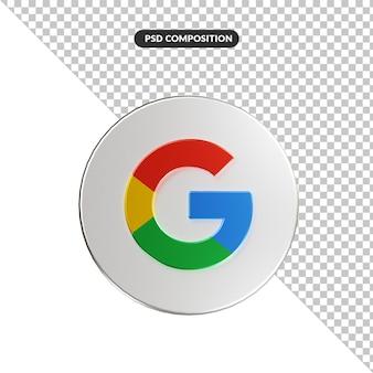 3d renderowania aplikacji logo google na białym tle