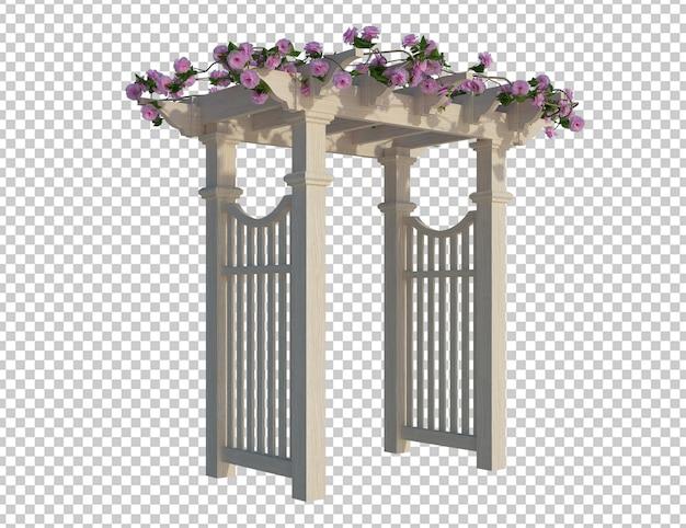 3d renderowania bluszcz rośliny na białym tle