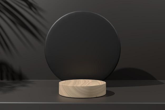 3d renderowania drewna minimalistyczny podium