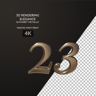 3d renderowania elegancji alfabet metaliczny skrypt