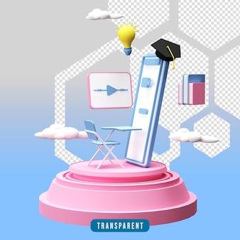 3d renderowania ilustracja edukacji online