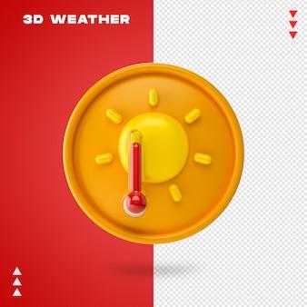 3d renderowania pogody na białym tle