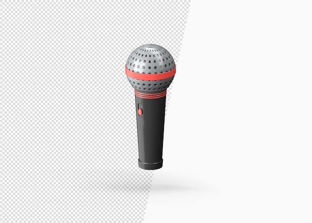 3d renderowania realistyczny mikrofon usta na białym tle