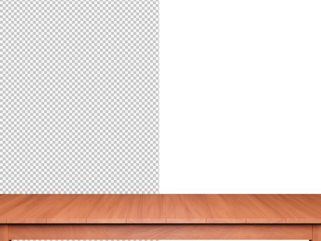 3d renderowania tło blat drewna na białym tle
