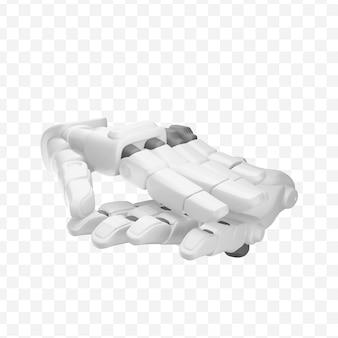 3d robot ręce klaskają ręce oklaski izolowane ilustracja 3d
