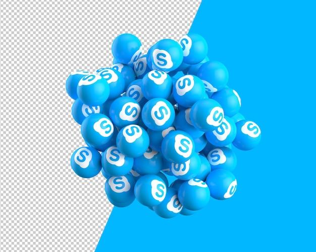 3d sfery ikony skype