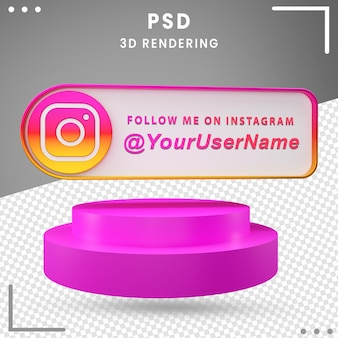 3d social media mockup icon instagram design