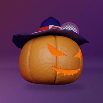 3d straszna dynia ilustracja halloween
