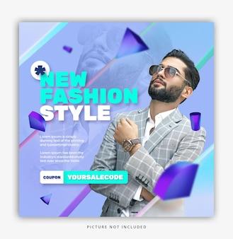 3d stylista moda social media szablon instagram