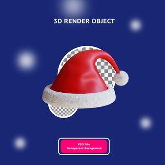 3d świąteczny kapelusz ilustracyjny obiekt renderowany przezroczyste tło