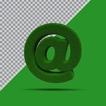 3d symbol z trawy