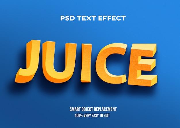 3d szablon efektu tekstowego skrętu żółty