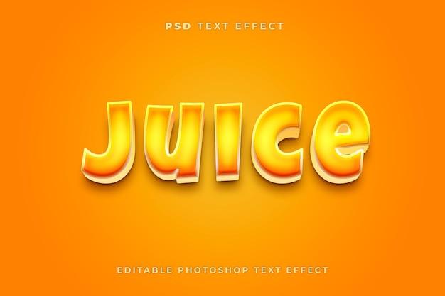 3d szablon efektu tekstowego soku
