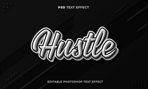 3d szablon efektu tekstowego zgiełku