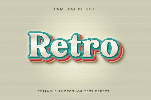 3d szablon efektu tekstu retro z kolorowym efektem