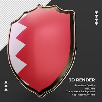3d tarcza flaga bahrajnu renderująca prawy widok