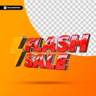 3d tekst sprzedaży flash