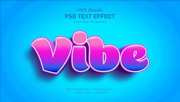 3d vibe kolorowy edytowalny efekt tekstowy