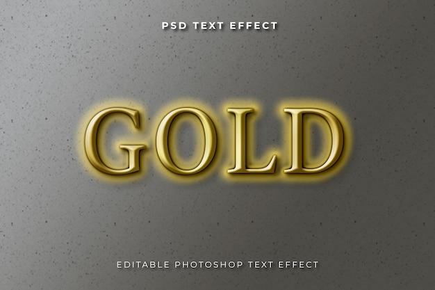 3d złoty szablon efektu tekstowego
