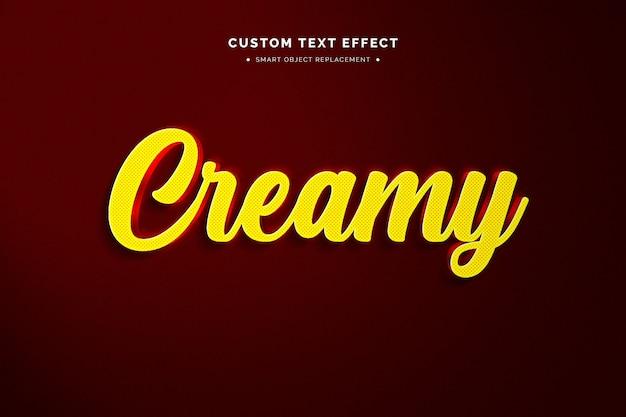 3d żółty styl tekstu