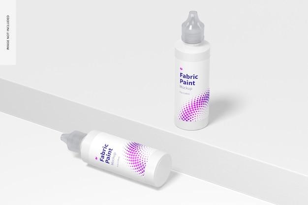 4 uncje makiety butelek z farbą do tkanin, upuszczone