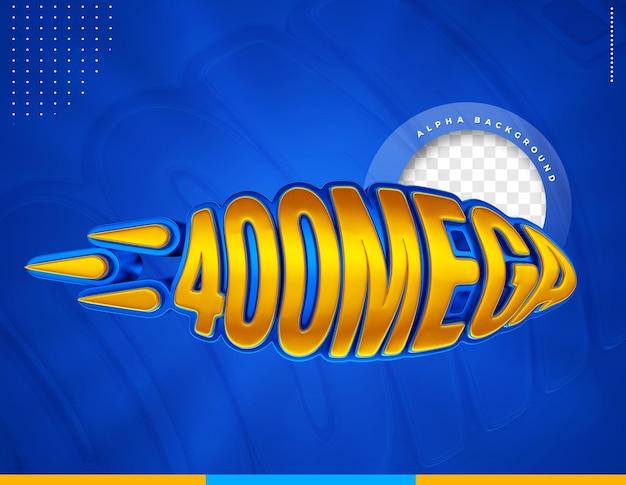 400 mega etykieta 3d do kompozycji internetowych