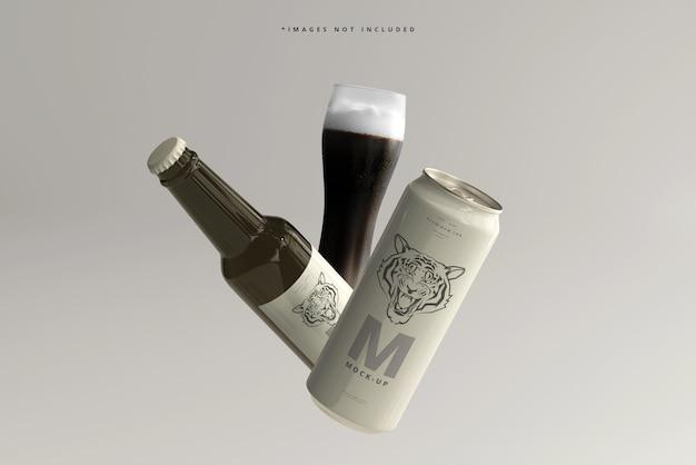 500 ml eleganckiej puszki po napojach lub piwie z makietą butelek