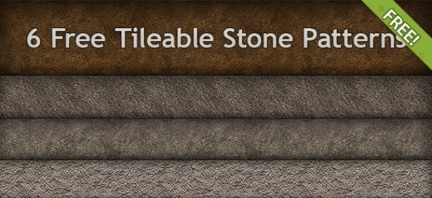 6 free tileable wzory kamienia