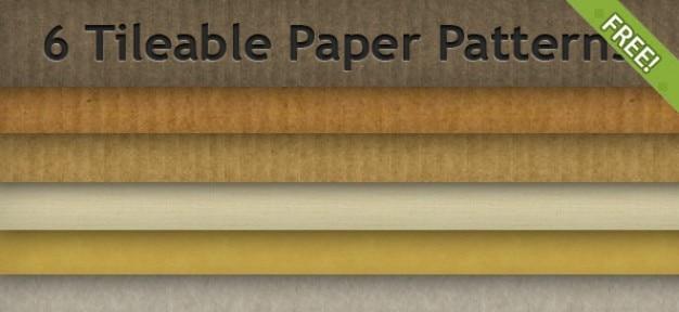6 free tileable wzory papieru