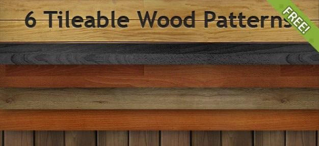 6 free tileable wzory wood