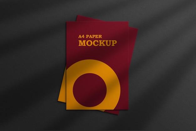 A4 lub papier firmowy makieta premium psd