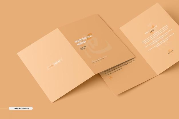 A5 a6 makieta składanej karty broszurowej