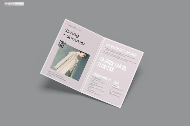 A5 bifold broszura makieta
