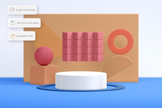 Abstrack nowoczesne lokowanie produktu na podium