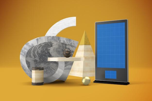 Abstrakcyjna makieta digital signage