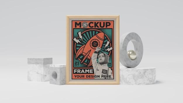 Abstrakcyjna makieta retro ramki do zdjęć