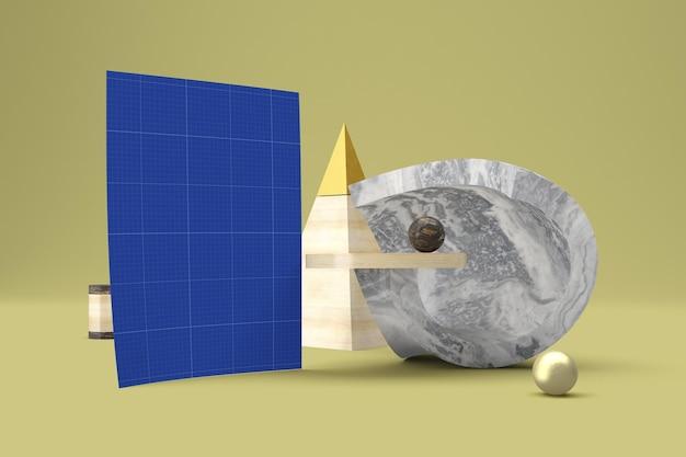 Abstrakcyjna makieta szyldu